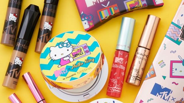 コスメパッケージに「MTVxHello Kitty」が登場!華やかなアイテムが数量限定でPLAZAにて販売