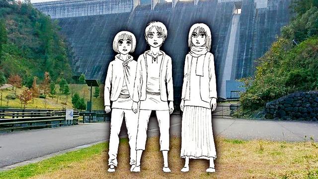 『進撃の巨人』主人公エレンらの銅像が大山ダムに!作者・諫山創先生の故郷に「その日」を再現
