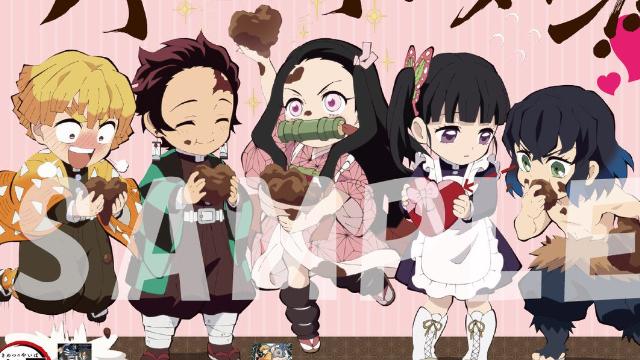 『鬼滅の刃』チョコを食べる炭治郎や喜ぶ善逸がかわいい♪描き下ろしバレンタインイラスト公開!全国のアニメイト他にポスター掲出