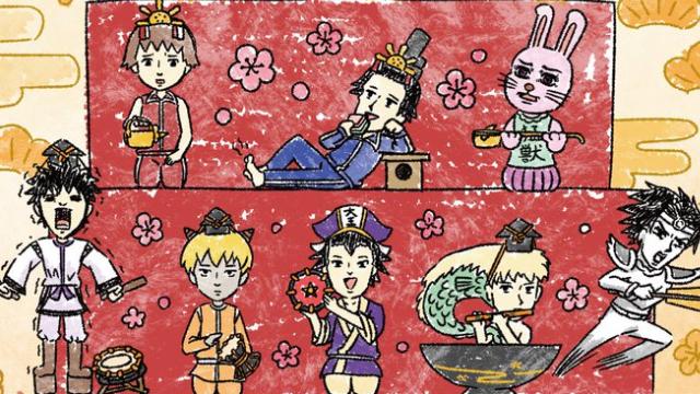 『ギャグマンガ日和』ひな祭りがテーマの新商品発売!天国組や聖徳太子たちがゆる可愛いグラフアートになって登場