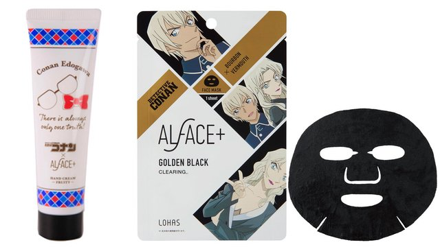 『名探偵コナン』x「ALFACE+」フェイスマスク・ハンドクリーム・リップスティックの3種が登場