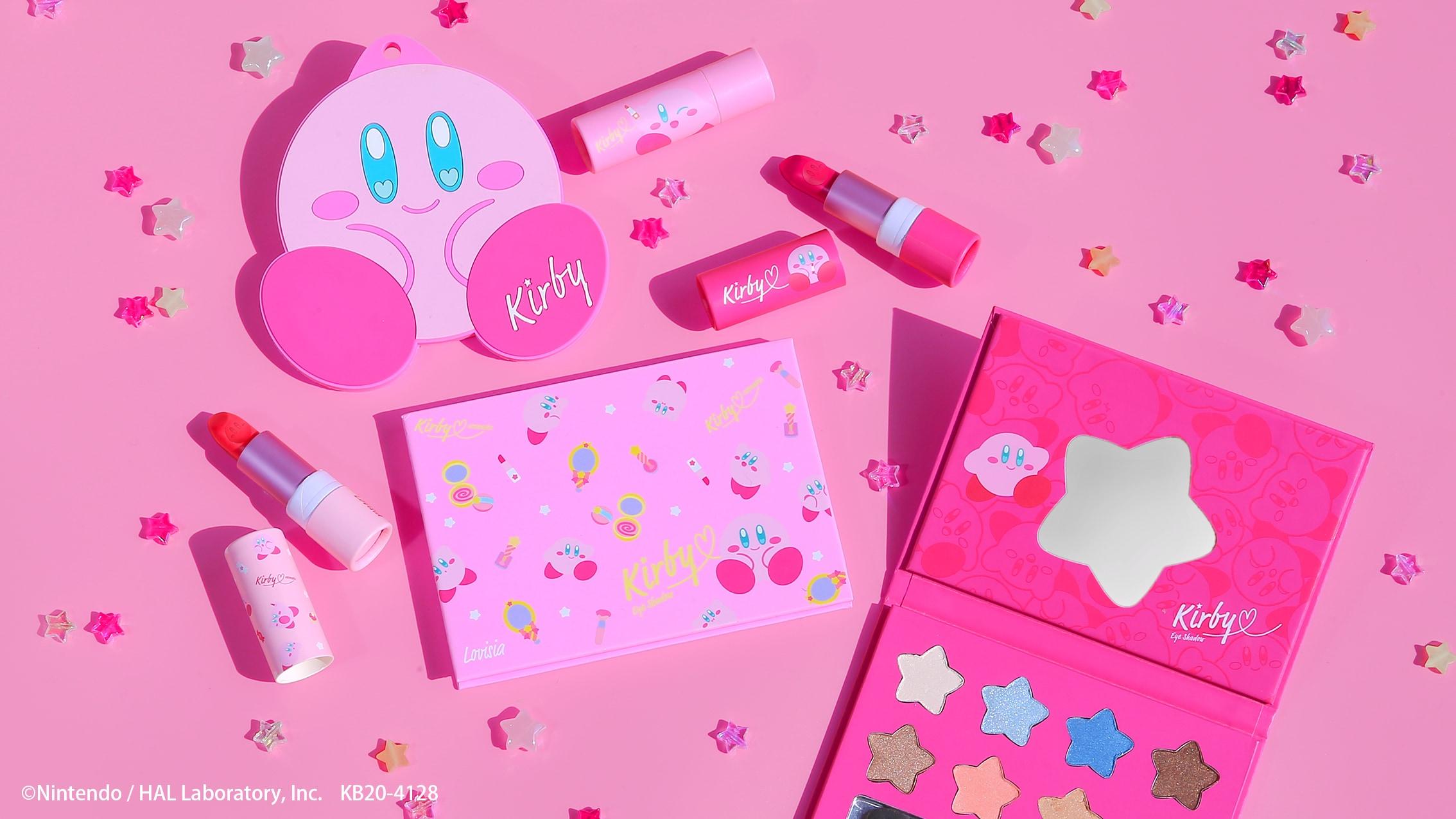『星のカービィ』コスメグッズ登場!ピンク&かわいいがぎゅっと詰まったアイシャドウ・リップ・ミラー
