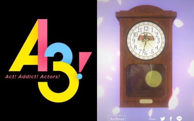 """『A3! 』「ACT3! 1 / 2 """"EVER LASTING"""" 」ティザーサイトにてカウントダウンスタート 時計に刻まれる年数、ガラスに映るものは?"""