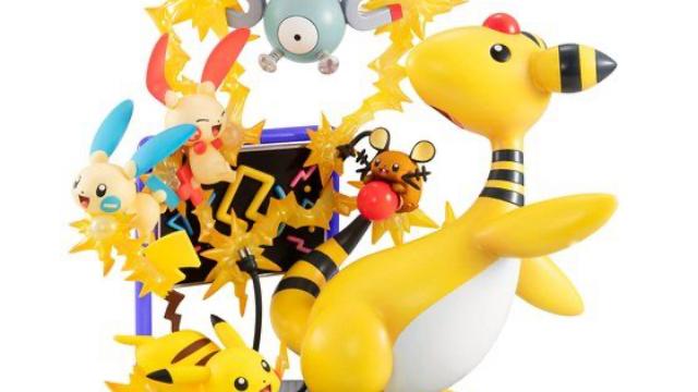『ポケモン』でんきタイプ大集合フィギュア登場!デンリュウやピカチュウがぎゅっと一緒になってボリューム満点