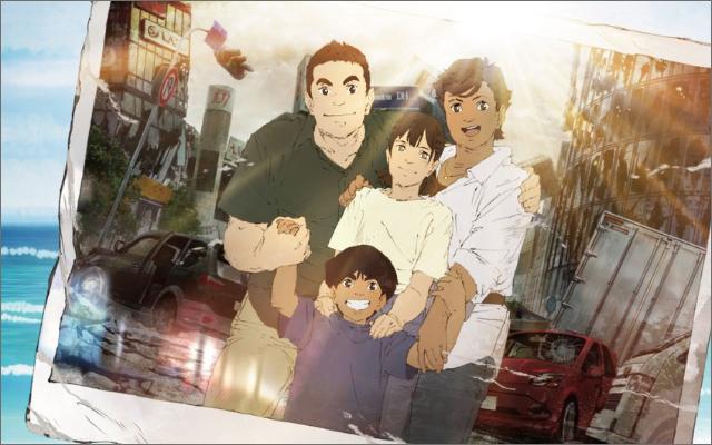 Netflixアニメ『日本沈没2020』キービジュ公開!衝撃的な背景と笑顔の家族写真が描かれる