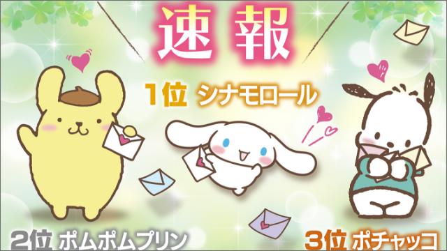 「シナモロール」が1位にランクイン「サンリオキャラクター大賞」速報到着!TOP10キャラクターを発表