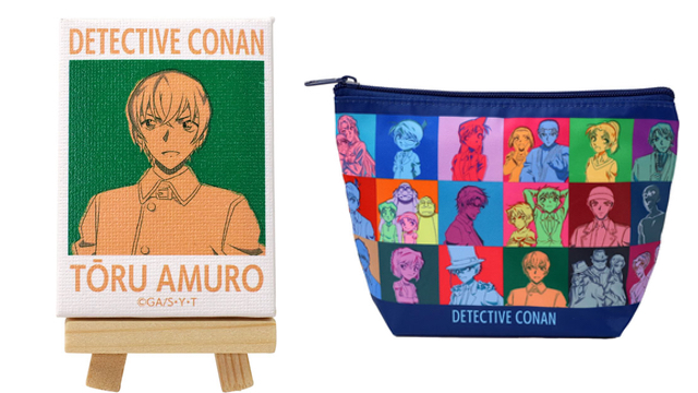 『名探偵コナン』カラフルアートデザインのグッズが登場!ミニキャンバスアート・ミラー・ポーチなど