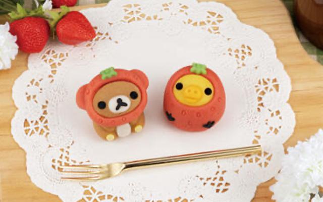 """リラックマ&キイロイトリ""""イチゴの被り物""""が可愛い新デザインの「食べマス」が登場!"""