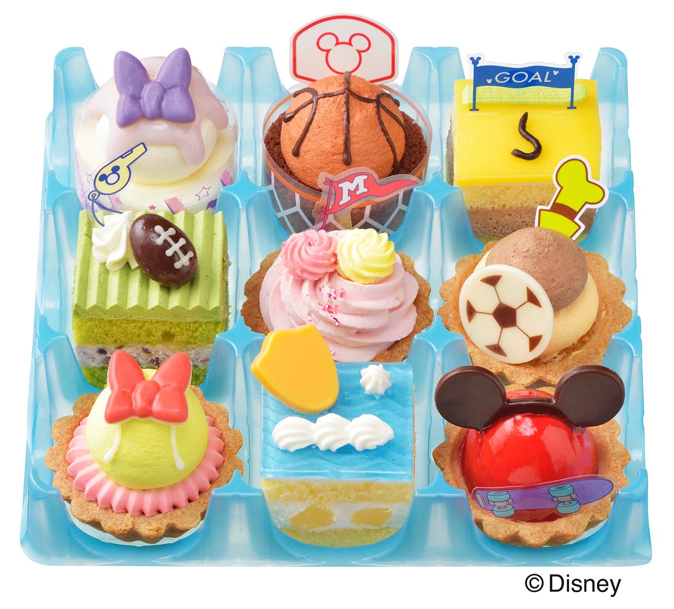『ディズニー』×「コージーコーナー」かわいいプチケーキ登場!スポーツをモチーフにしたキュートな詰め合わせ