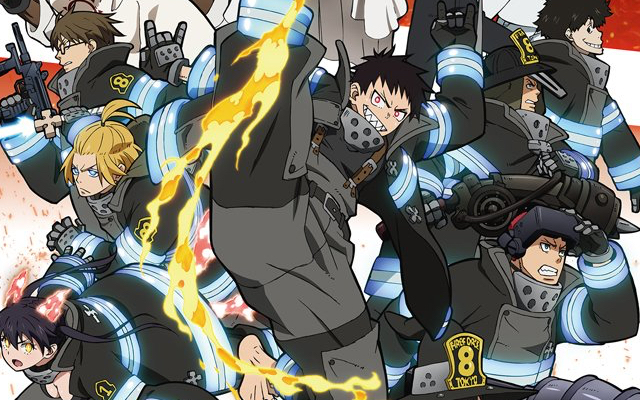 TVアニメ『炎炎ノ消防隊 弐ノ章』メインビジュアル&第8特殊消防隊が活躍する本PV公開!