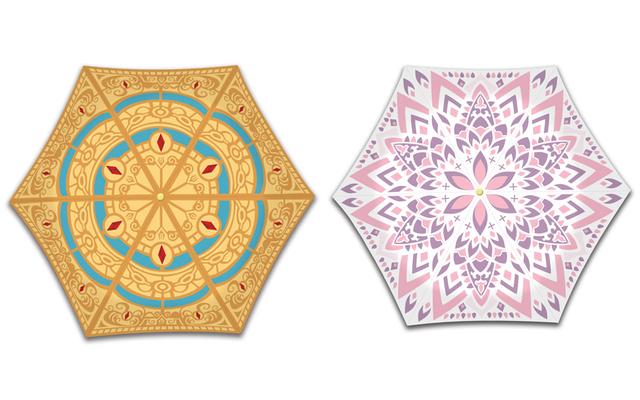 『FGO バビロニア』晴雨兼用の折り畳み傘が登場!衣装や装飾品のデザインを模様に落とし込んだデザイン