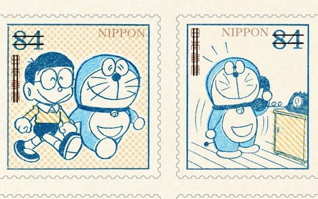 『ドラえもん』レトロ可愛い切手が登場!コミックス連載初期のカットが厳選されたデザイン