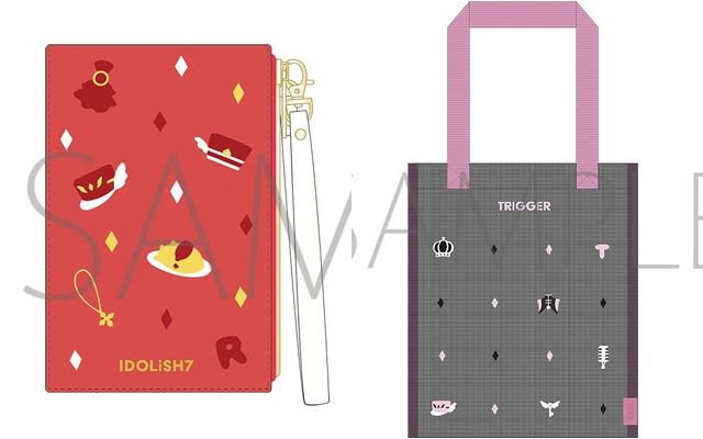 『アイナナ』新作パスケース&メッシュトートが登場!アイドルたちの衣装や小物をアイコン化したデザイン