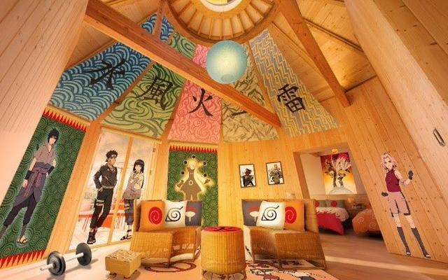 『NARUTO』火影の別荘をイメージしたグランピング・コラボルームが登場!限定アメニティも多数