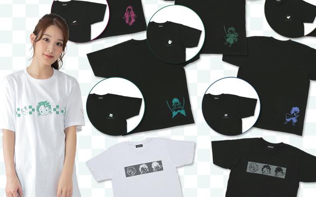 『鬼滅の刃』炭治郎らがデフォルメデザインされたTシャツ&パーカー全24種が登場!