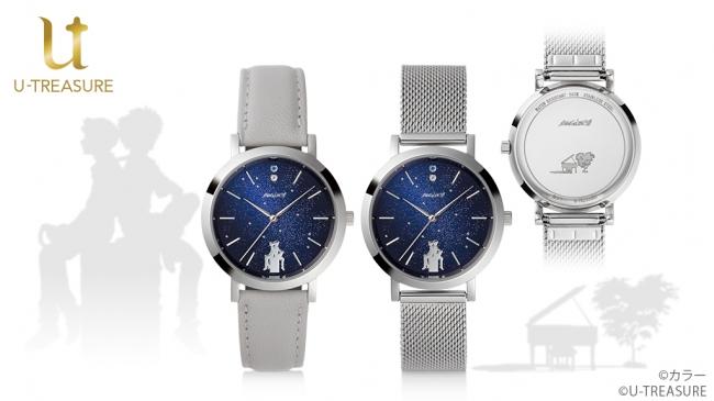 『エヴァ』シンジ&カヲルのシルエットが素敵な腕時計販売決定!12時の位置には2人をイメージしたカラーストーン