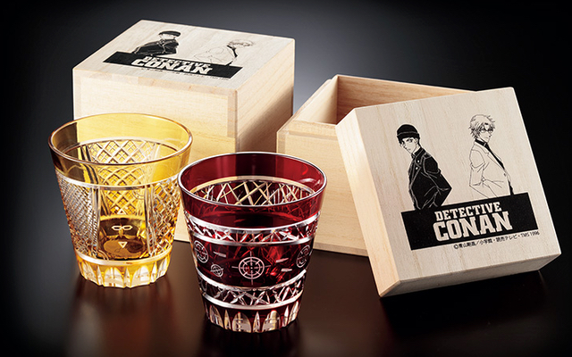 『名探偵コナン』赤井秀一&沖矢昴をイメージした「江戸切子グラス」が販売決定!