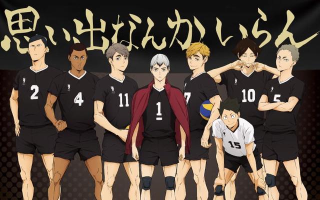 TVアニメ『ハイキュー!!TTT』稲荷崎高校の新ビジュアルが公開!応援幕の前にレギュラーメンバーが集結
