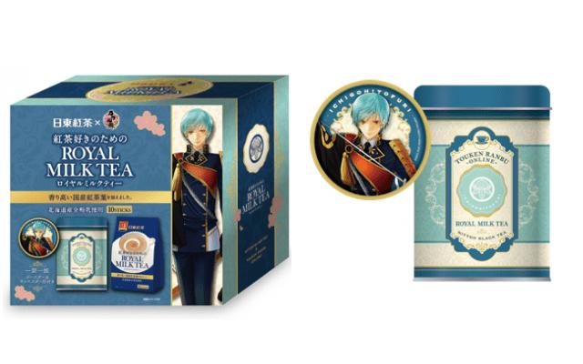 『刀剣乱舞』x「日東紅茶」一期一振、鶴丸国永、鶯丸のコラボパッケージが登場!オリジナルキャニスター缶・コースター付き