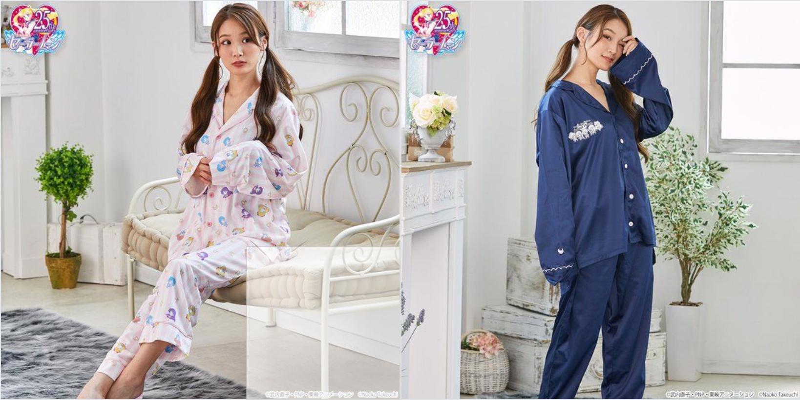 """『美少女戦士セーラームーン』より""""ぷちきゃら!""""デザインの可愛いパジャマが登場♪総柄とワンポイントの2種"""