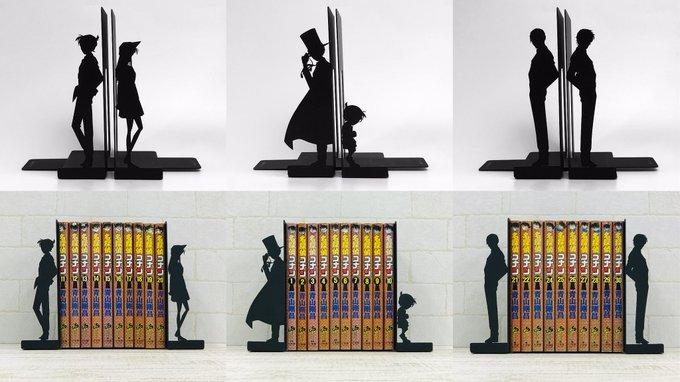 『名探偵コナン』キャラのシルエットがデザインされたブックエンドが新登場!本が増えるほど2人の距離は離れていく…!!