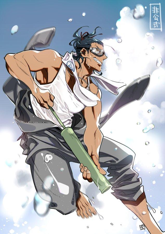 『刀剣乱舞』竹水鉄砲を楽しむ日本号やひまわりを抱える獅子王など!公式絵師がイラストを公開