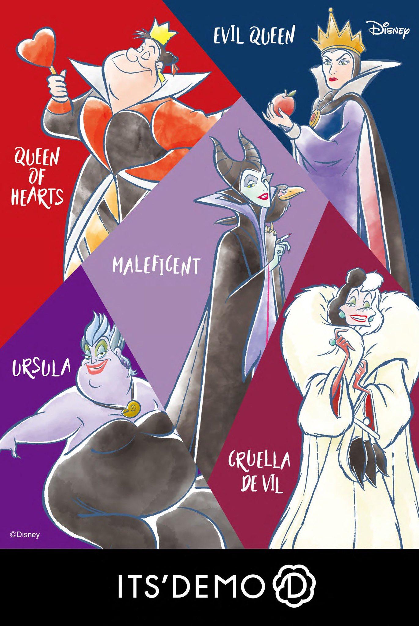 「ディズニーヴィランズ」x「イッツデモ」マレフィセント・イーヴィルクイーンなど悪役たちによる少しダークでオトナな雰囲気に期待