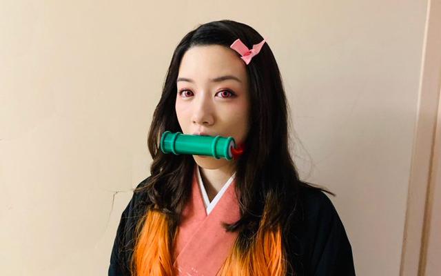 女優・永野芽郁さんが『鬼滅の刃』禰豆子のコスプレ姿を披露!ドラマ『親バカ青春白書』のオフショット公開