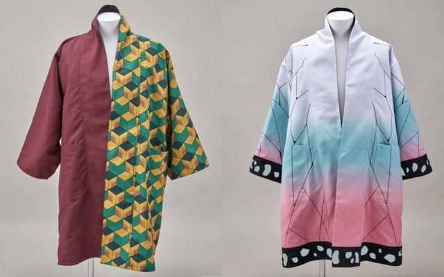 『鬼滅の刃』羽織や着物をイメージしたリバーシブルガウンが登場!柄が全面的にデザインされた面とシンプルカラーの組み合わせ