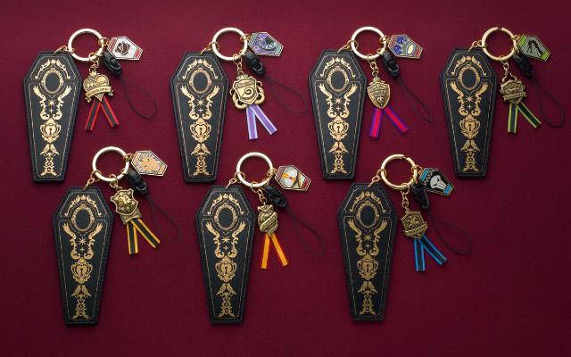 『ツイステ』寮生全22名の棺型チャームが登場!金色の箔押し&アンティーク調メタルパーツで高級感溢れるアイテム