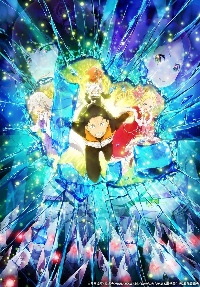 TVアニメ「Re:ゼロから始める異世界生活 2nd season(後半クール)」キービジュアル
