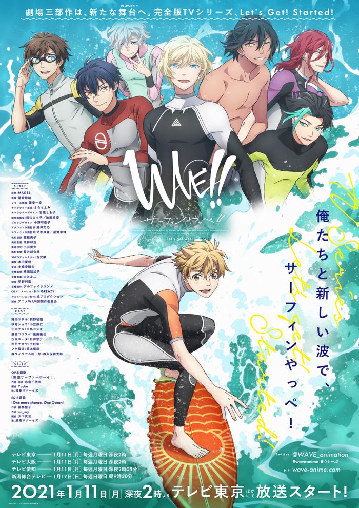 TVアニメ「WAVE!!~サーフィンやっぺ!!~」キービジュアル