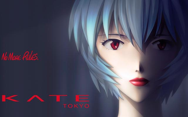 """綾波レイ""""初めての口紅""""『エヴァ』x「KATE」コラボ商品発売決定!唇をいたわりながら美しく見せるルージュ"""