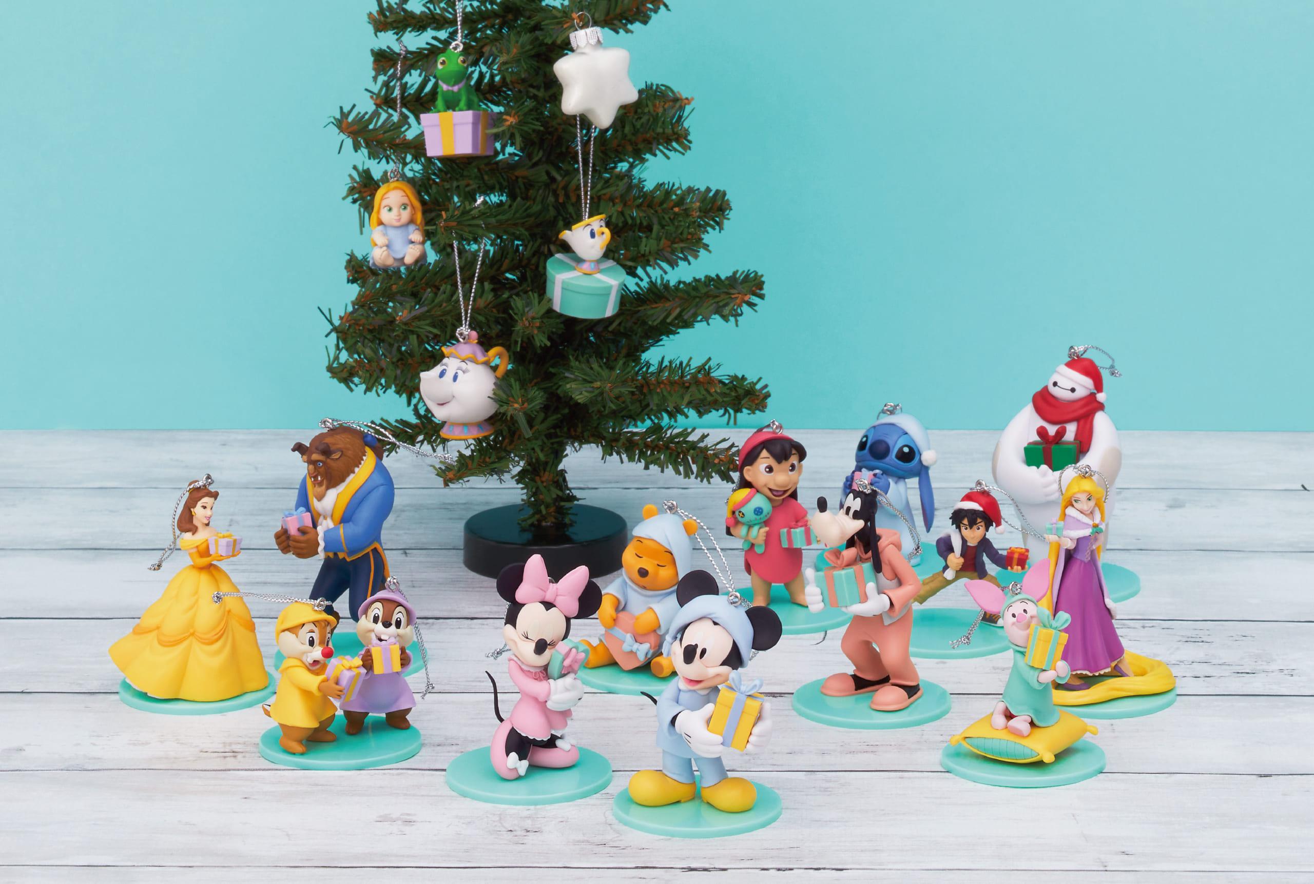 """「ディズニー」パジャマ姿のディズニーキャラたちがフィギュア化!""""クリスマスドリーム""""がテーマのHAPPYくじ登場"""