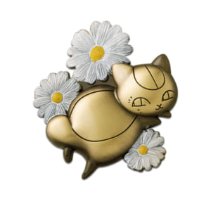 「一番くじ 夏目友人帳 ニャンコ先生と花しらべ」D賞 ニャンコ先生のお花ブローチ