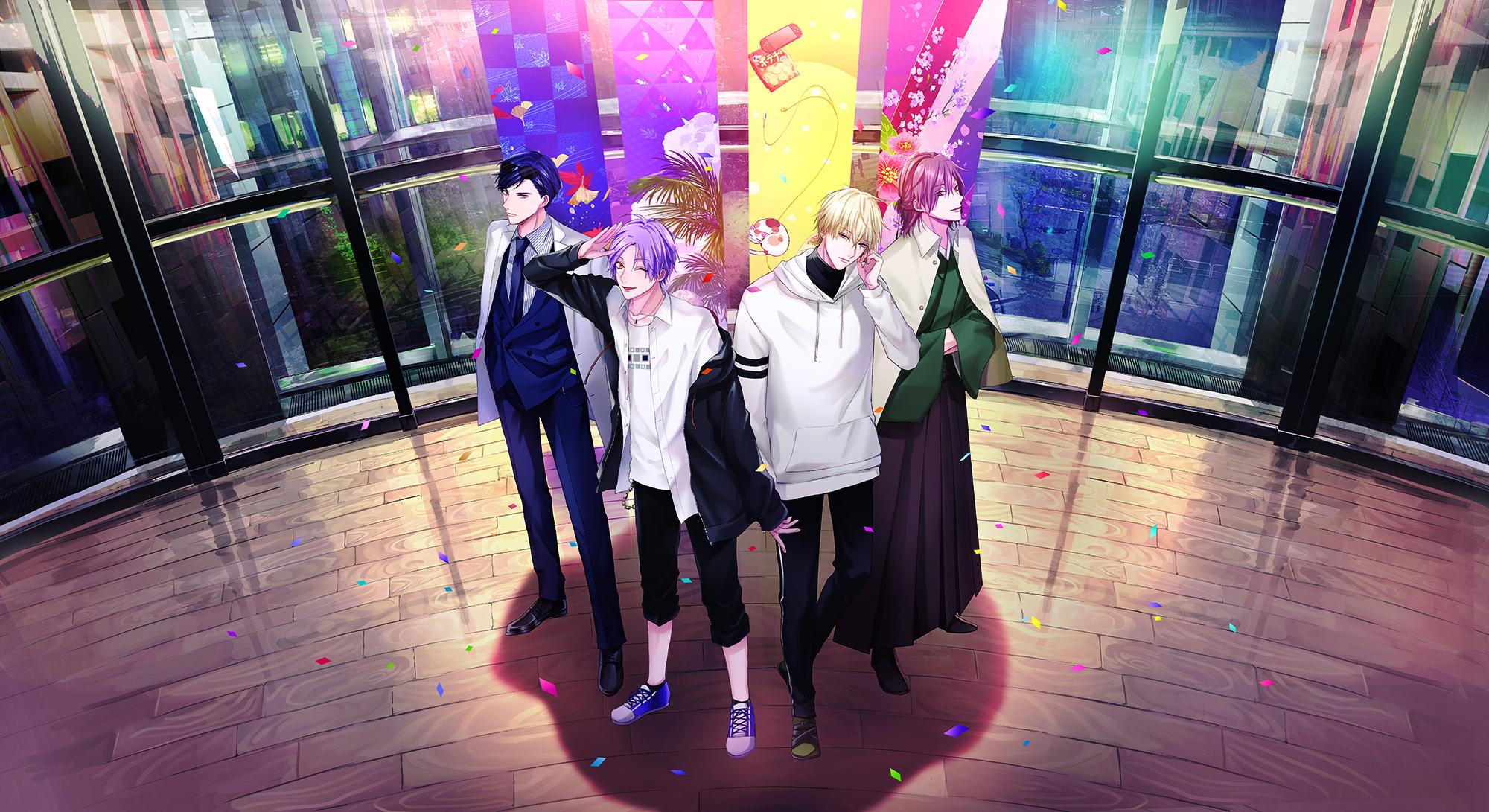 舞台「元号男子」志島とひろ先生によるイラストメインビジュアルが到着!大正・昭和・平成・令和が集結