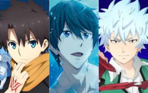 左から「Fate/Grand Order」藤丸立香、「Free!」七瀬遙、「斉木楠雄のΨ難」海藤瞬