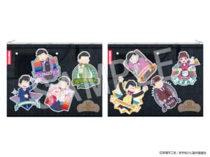 「おそ松さん」×「Animax Cafe+」コラボカフェ「おそ松さんDINER」グッズ フラットポーチ:1,800円(税抜)