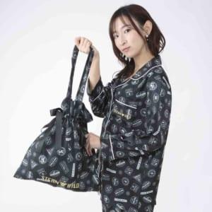 劇場版 TIGER & BUNNY -The Rising- サテン巾着バッグ スタンプ風デザイン
