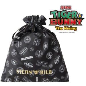 劇場版 TIGER & BUNNY -The Rising- サテン巾着(大)スタンプ風デザイン