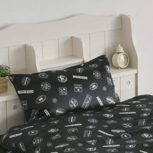 劇場版 TIGER & BUNNY -The Rising- サテン枕カバー スタンプ風デザイン