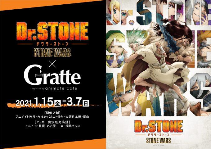 「Dr.STONE」×「Gratte」コラボ決定!グラッテ&クッキーは全12種・注文特典ポストカードは全10種