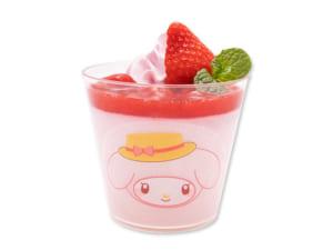 「Sweets Puro」マイメロディのいちごづくしミルクプリン(630円)