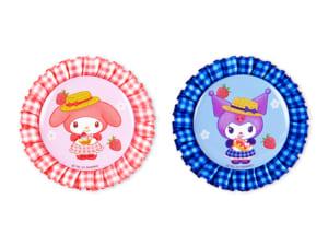 「Sweets Puro」ロゼット缶バッジ(マイメロディ、クロミ)各660円