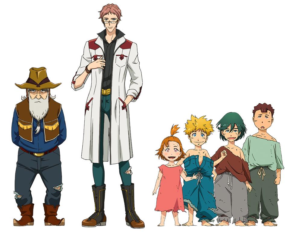 TVアニメ「バック・アロウ」エッジャ村の新キャラクター