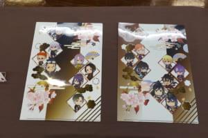 「刀剣乱舞-ONLINE-」×アニメイトカフェ グッズ 「クリアファイル 極 ver. A/B」各400円(税込)全2種