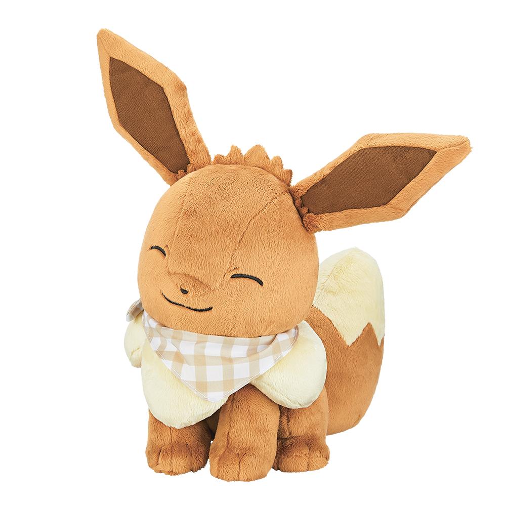 「ポケットモンスター」新作一番くじ「Pokémon anytime ~Sunny picnic~」ラストワン賞 ほっぺぎゅっ♪イーブイぬいぐるみ