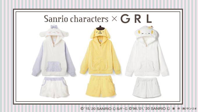 GRL×サンリオキャラクターズ ボアルームウエア