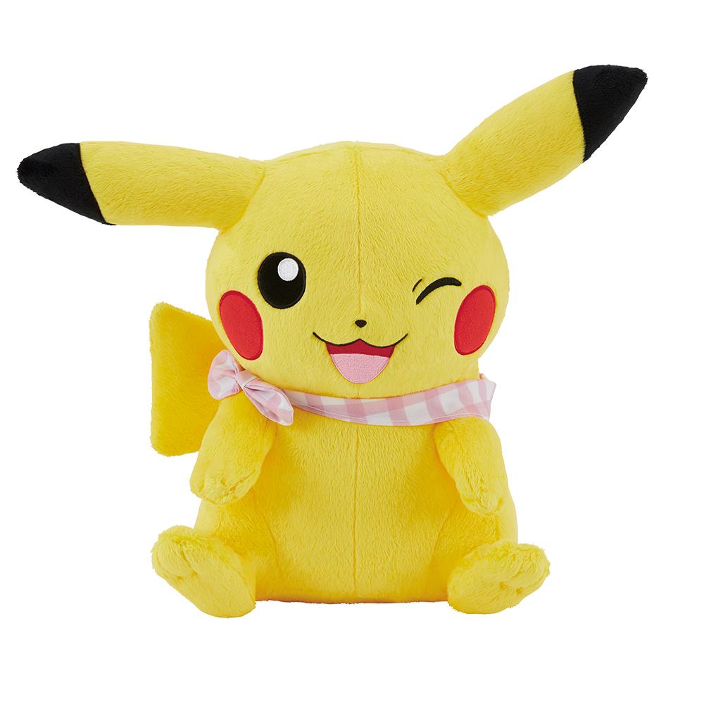 「ポケットモンスター」新作一番くじ「Pokémon anytime ~Sunny picnic~」A賞 ほっぺぎゅっ♪ピカチュウぬいぐるみ