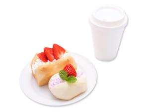 「Sweets Puro」いちごのモーニングブレッドセット(620円)